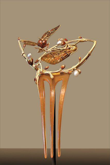Bijou Art Nouveau - Peigne Sigales, Gaston Chopard