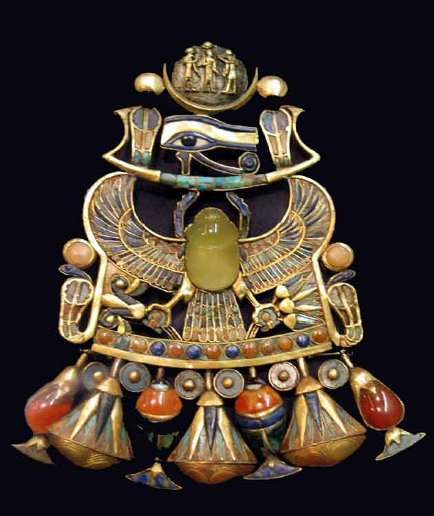 Bijoux de l'Égypte antique - Pectoral trouvé dans la tombe de Toutankhamon