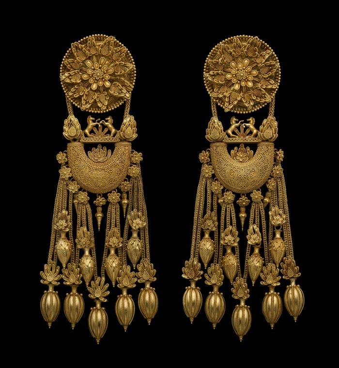 Bijoux de la Grèce antique - boucles d'oreilles