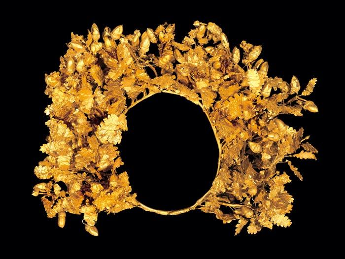 Bijoux de la Grèce antique - Couronne de feuille en or