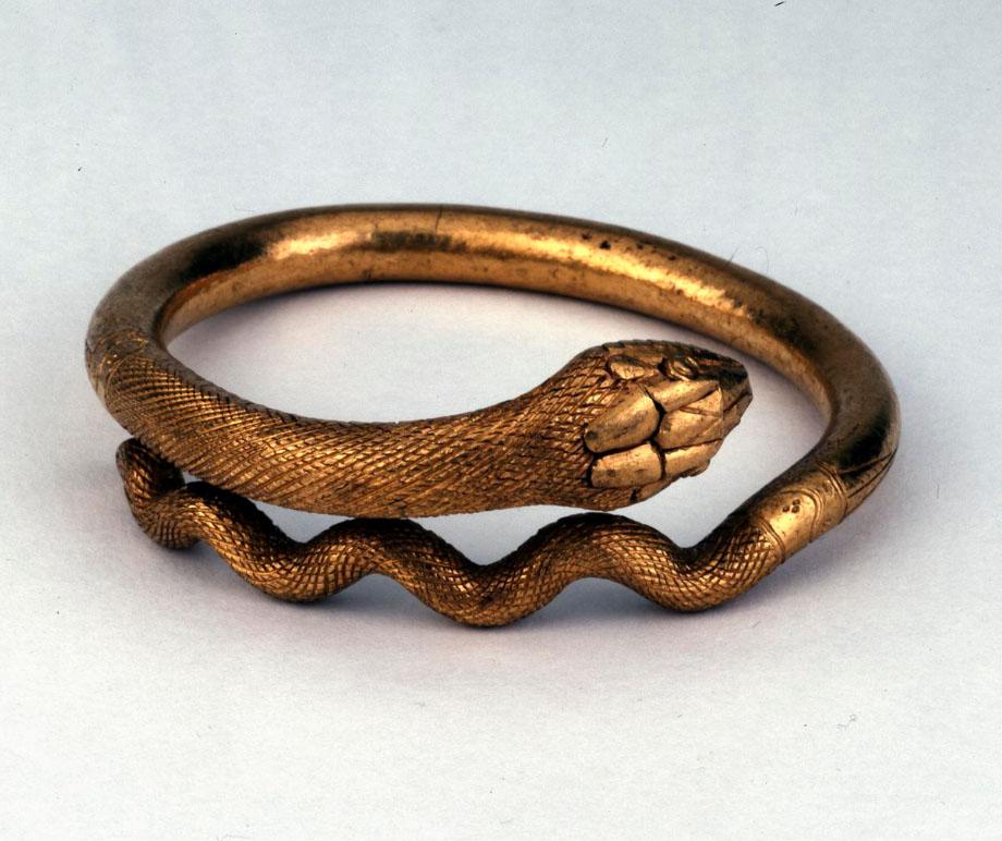 Bijoux de la Rome antique - bracelet serpent