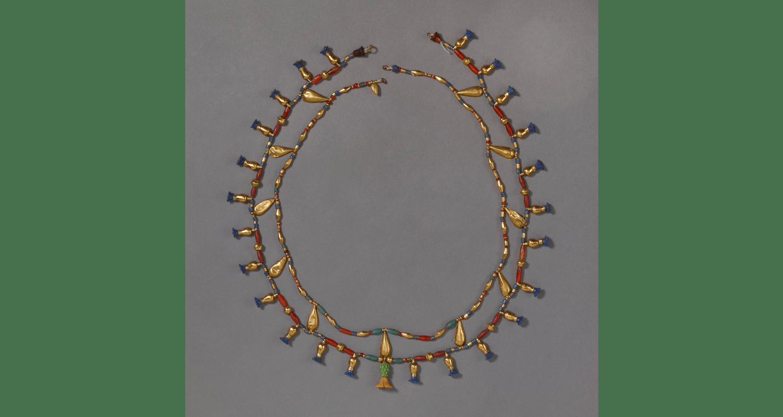 Bijoux de l'Égypte antique - Collier en or et perles