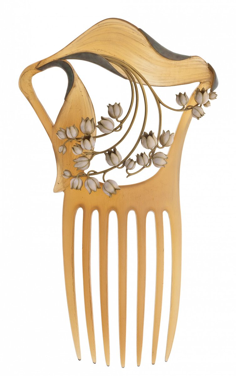 Bijou Art Nouveau - Peigne Muguet, René Lalique