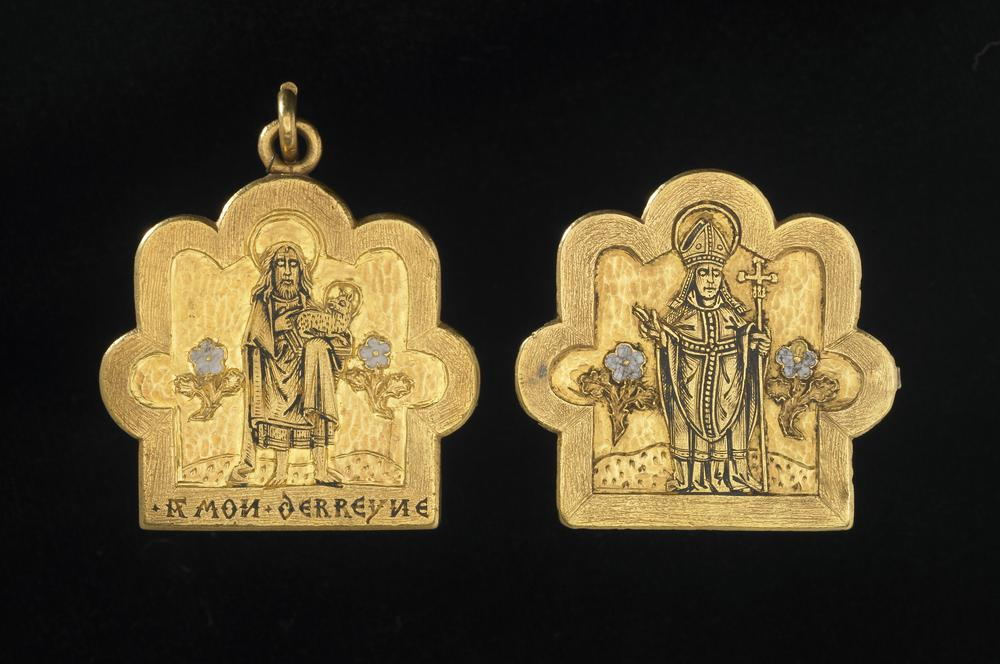 Bijoux médiéval - pendentif religieux, reliquaire