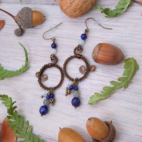 galerie créations - bijoux anciennes collection - boucles d'oreilles 1