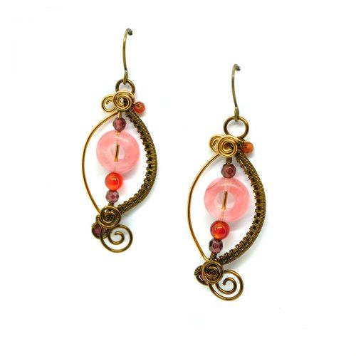 Boucles d'oreilles «Boutons de Roses» ~~ Collection «Nos Jardins Fleuris» ~~