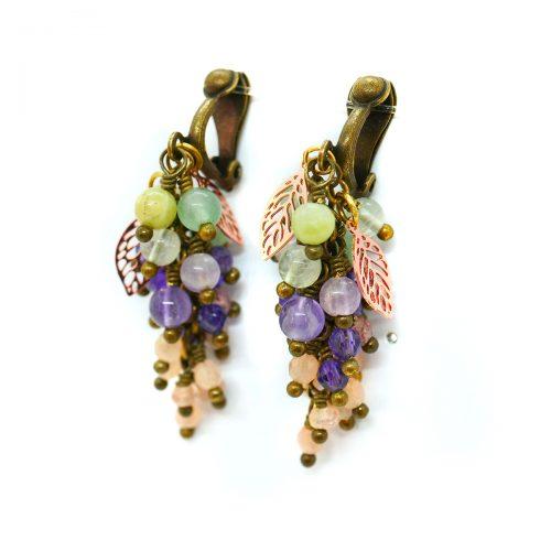 Boucles d'oreilles «Glycine Parfumée» ~~ Collection «Nos Jardins Fleuris» ~~
