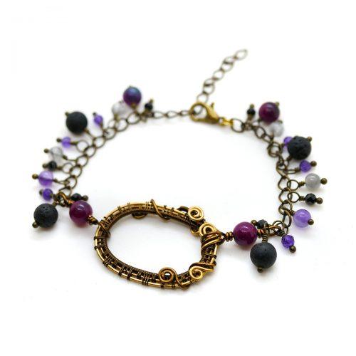 "Bracelet «Portail Lilas» ~~ Collection ""Nos Jardins Fleuris"" ~~"